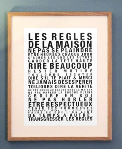 affiche les regles de la maison la cabane eug ne citation pinterest produits et. Black Bedroom Furniture Sets. Home Design Ideas