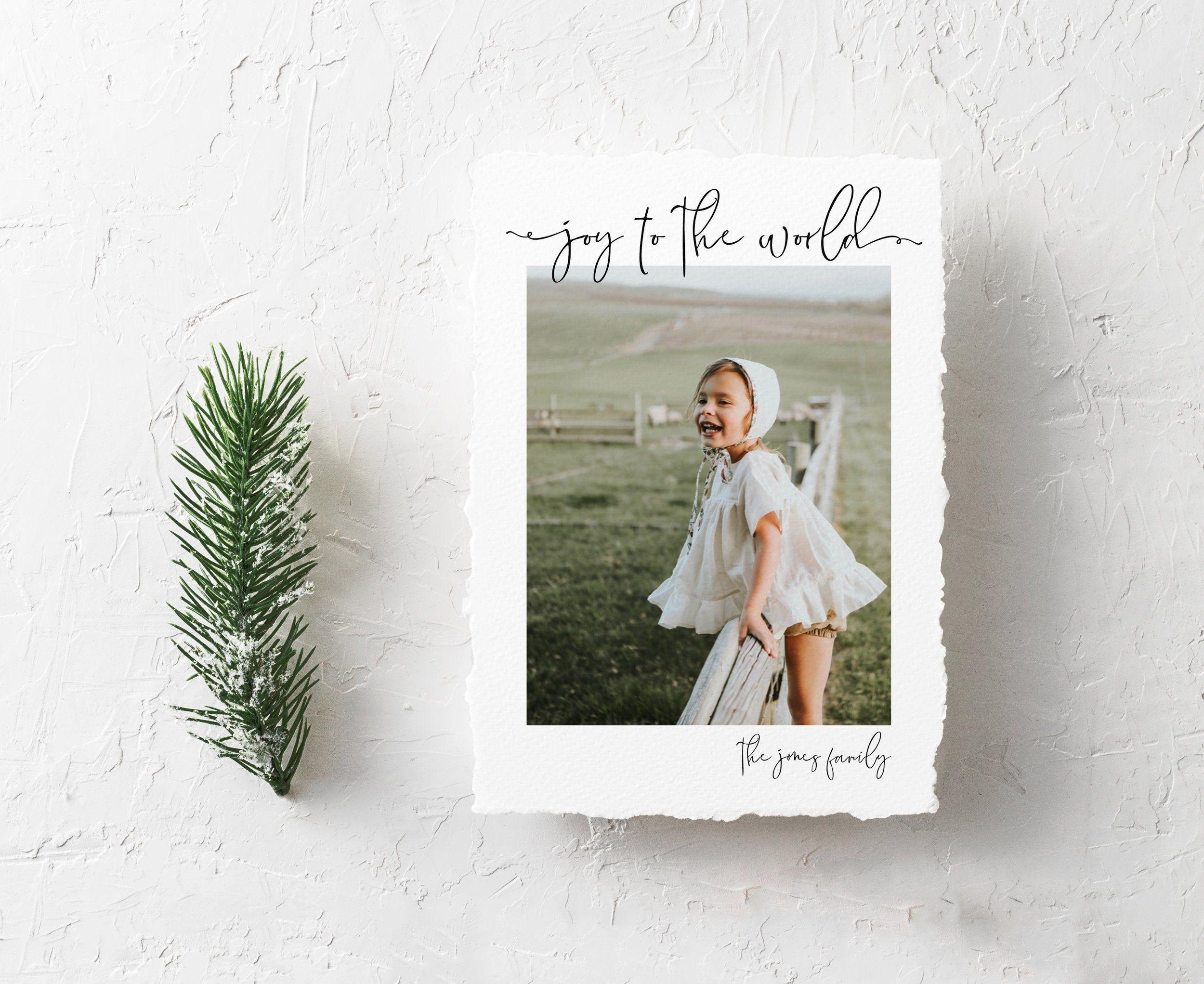 Joy To The World Christmas Card With Photo Printable