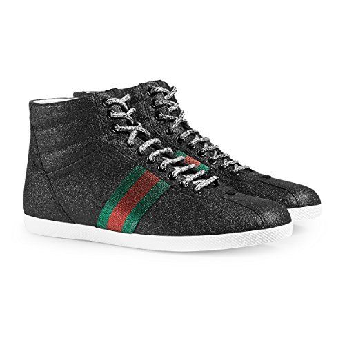 e6a7502fc65 Gucci Men s Glitter Web High-top Sneaker