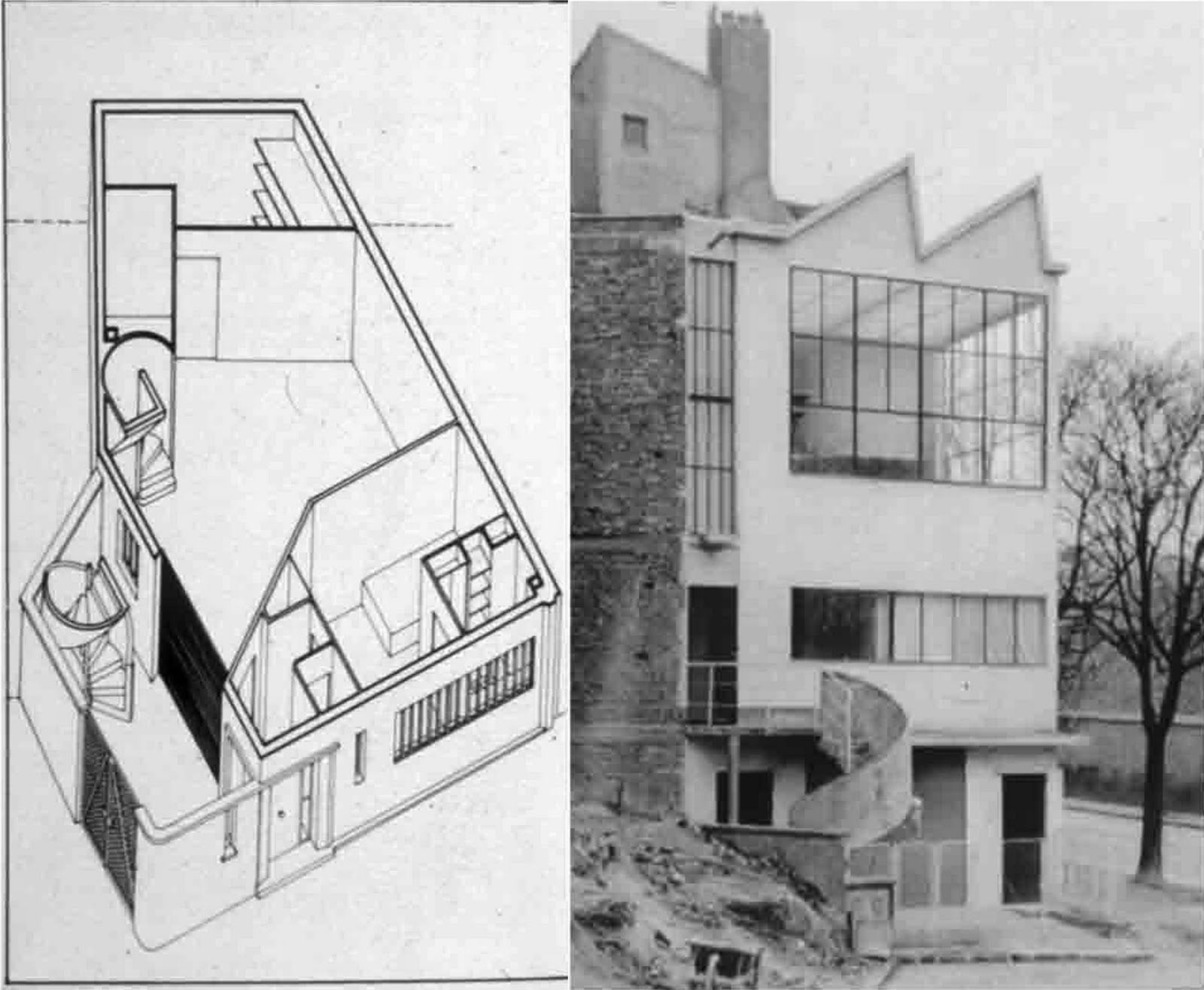 Ozenfant house and studio le corbusier architecture for Atelier de la maison