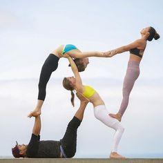 yoga acro couples beginner poses girls inspiration get