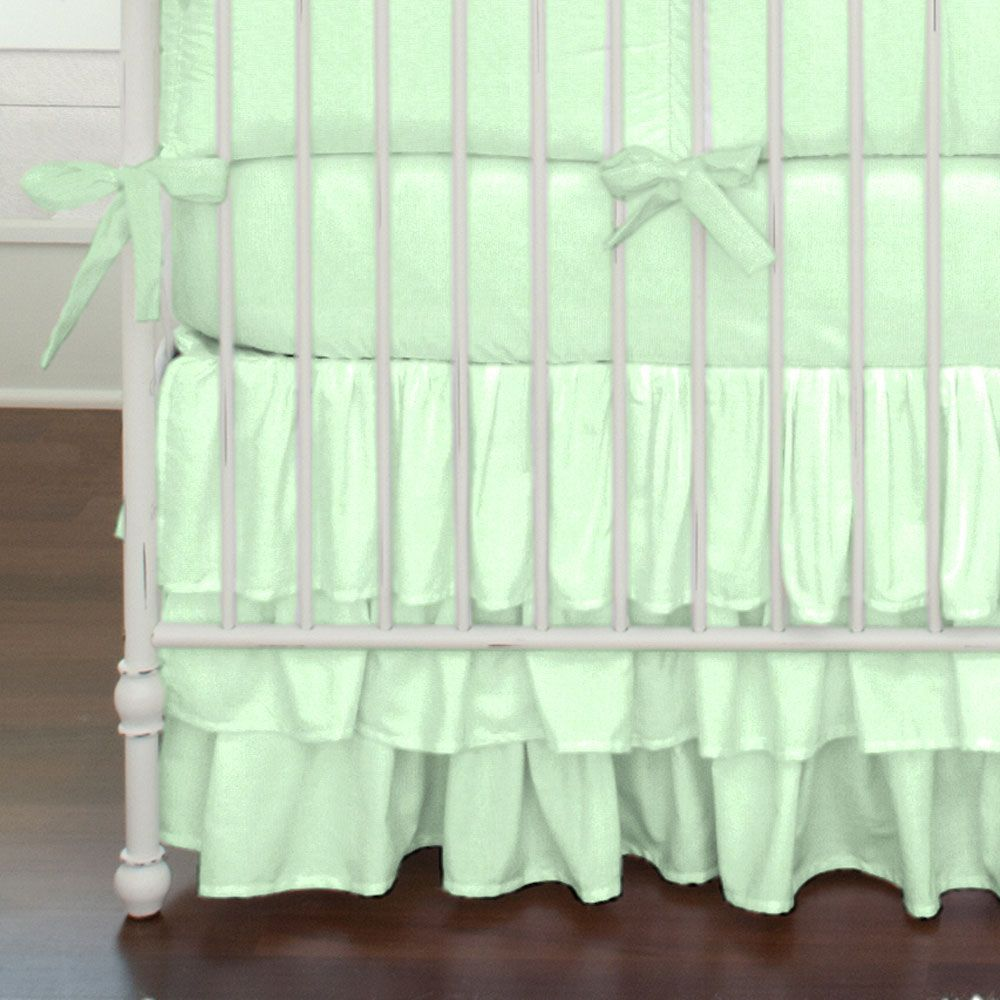 Solid Mint Crib Bedding #carouseldesigns