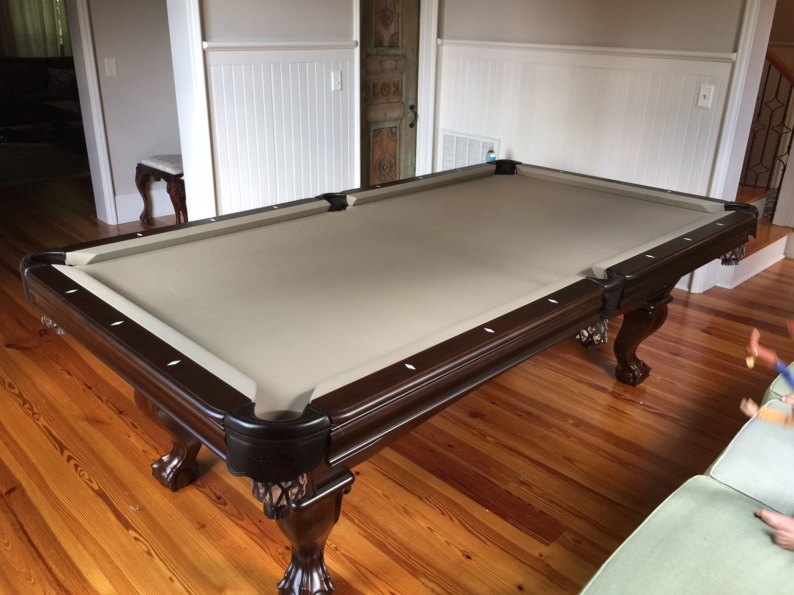 Brunswick Glenwood Espresso Pool Table Install By Everything - Brunswick bridgeport pool table