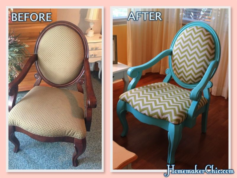 Craig\'s List furniture up cycle. Turquoise Chair with Lime Green ...