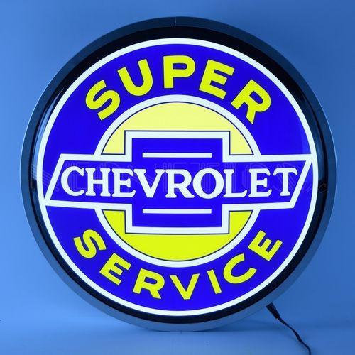 Super Chevrolet Service Backlit Sign Backlit Signs Man Cave