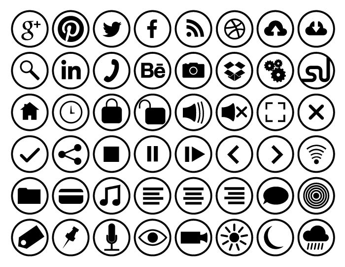 Outline Flat circle icons | Design Inspiration | Pinterest | Icons