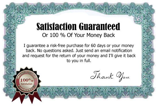 Include a money back guarantee A money back guarantee is - guarantee letter