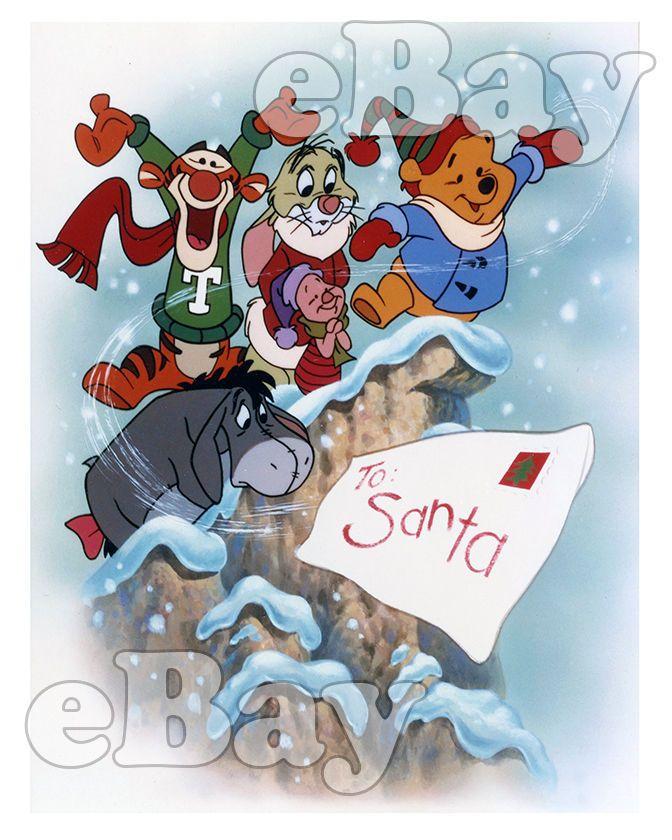 disney Rare! DISNEY\u0027S WINNIE THE POOH AND CHRISTMAS TOO Cartoon 8 X