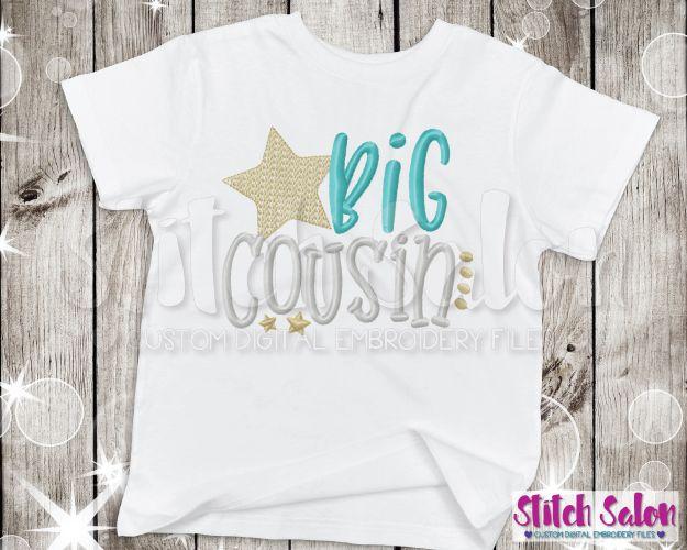 Big Cousin Star Embroidery Design Files