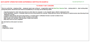 Image Result For Experience Certificate Sample In Word Format