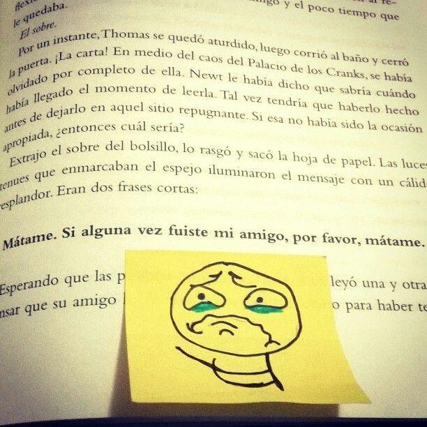 No puedo :C So sad. the maze runner, the death, cure, Cura Mortal ...