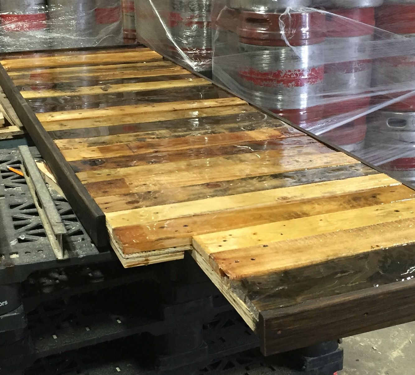 When Making A Pallet Countertop With A Resin Top Coat Be Sure To