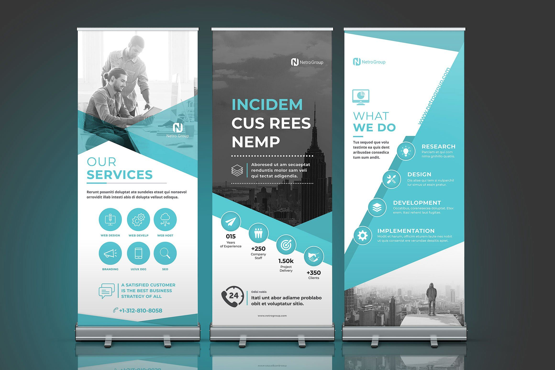 Pull Up Banner Design Rollup