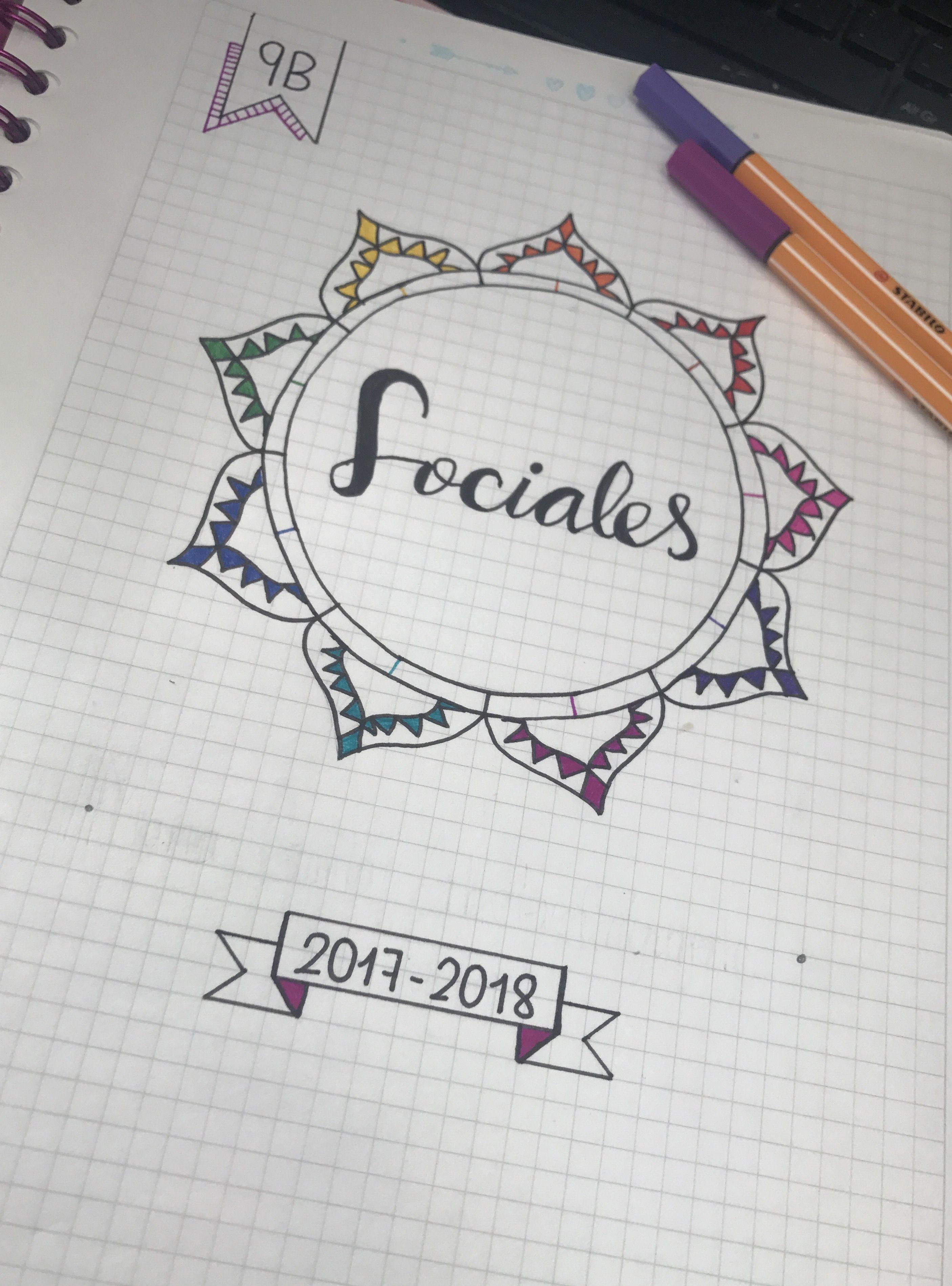 Cuaderno Marcado De Sociales Escuela School Notebooks School