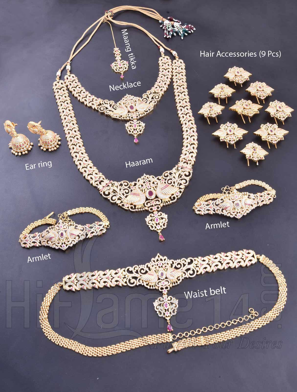 Rent Royal American Diamond Bridal Set For Wedding Occasions  Hiflame14