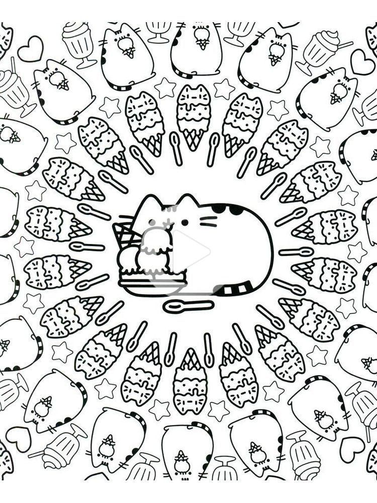 Pusheen Coloring Pages Pdf 1. Pusheen Is A Female Cartoon Cat That Is A  Comic Material And St… In 2020 Pusheen Coloring Pages, Birthday Coloring  Pages, Coloring Bookmarks
