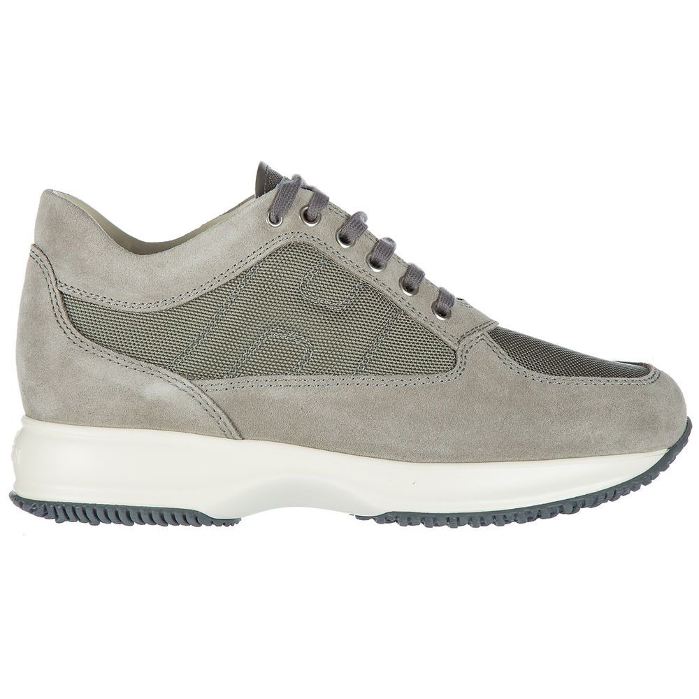 eBay  Sponsored HOGAN MEN S SHOES SUEDE TRAINERS SNEAKERS NEW INTERACTIVE  GREY 8FF ad5e1d0838d