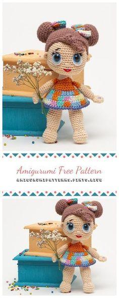 Amigurumi Lol Baby Doll Free Crochet Pattern - Amigurumi Patterns #dollies