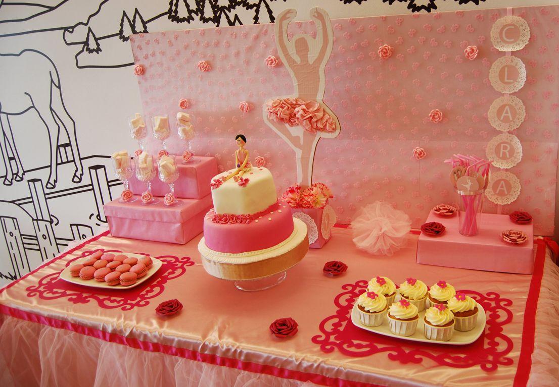 Mesa dulce de bailarina para las princesas de la casa - Mesa dulce infantil ...