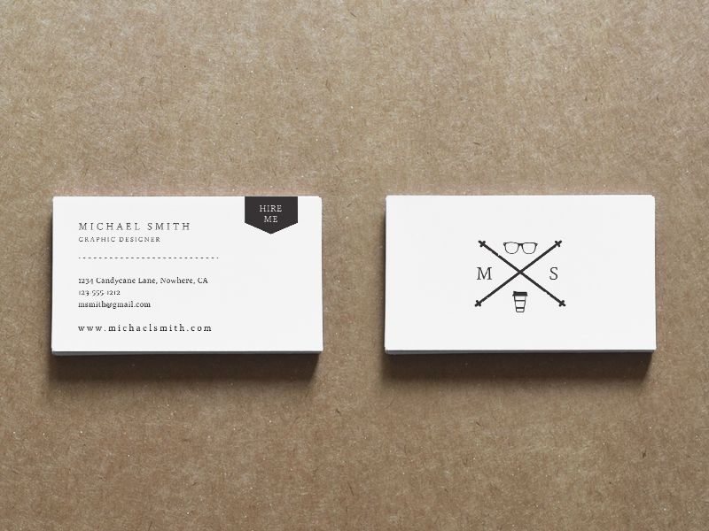 Classic Resume \ Business Card Set Business cards, Design - resume business cards