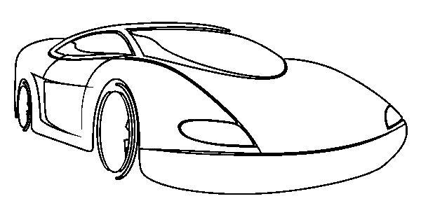Race Sport Car Coloring Page
