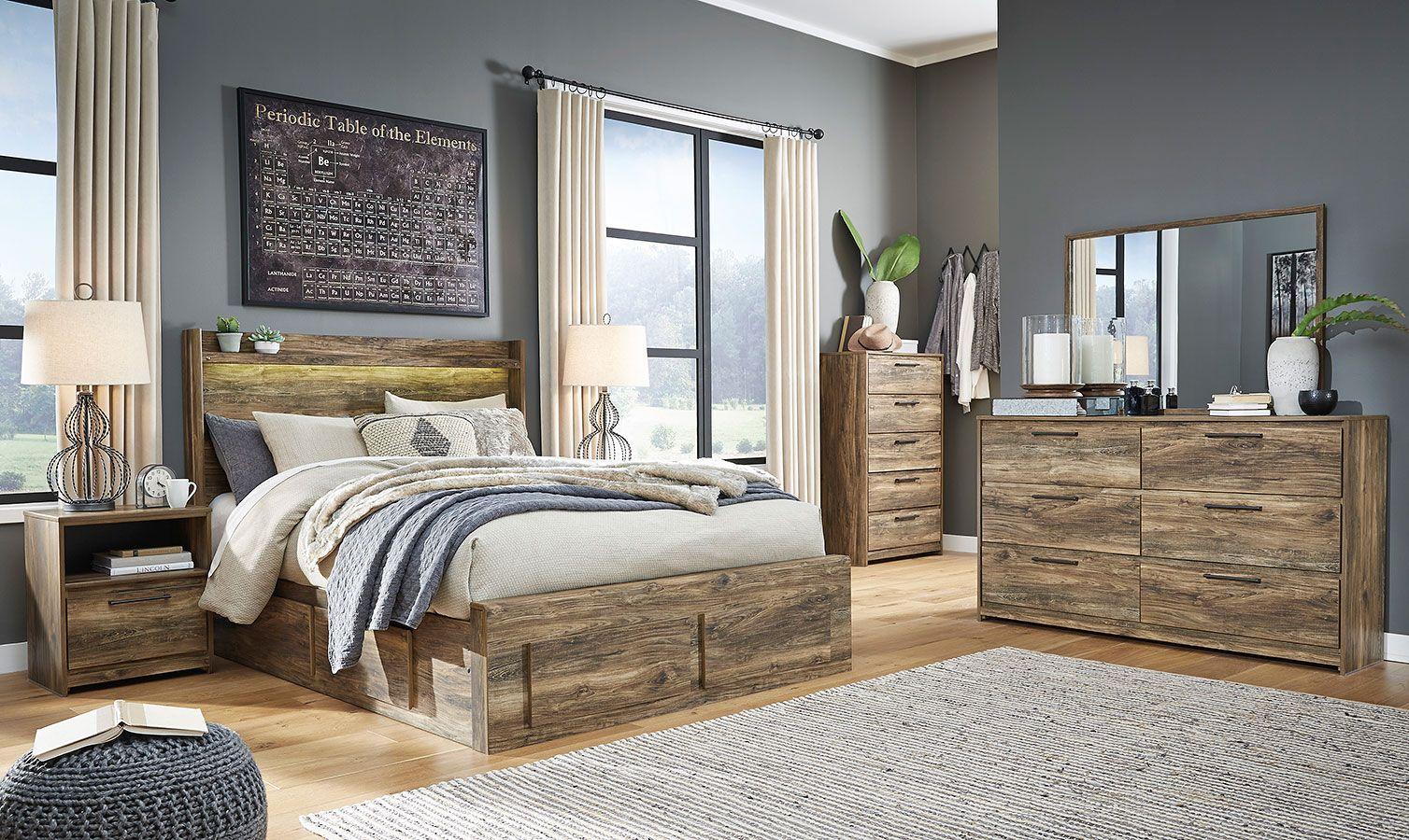 Rusthaven Super Storage Bedroom Set in 2020 Bedroom