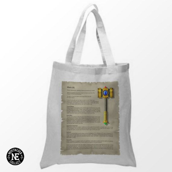 War Hammer Tote Bag  15X16 Inch White Tote Bag by NostalgiaCollect
