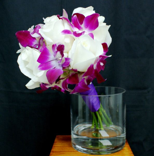 orchid & white roses