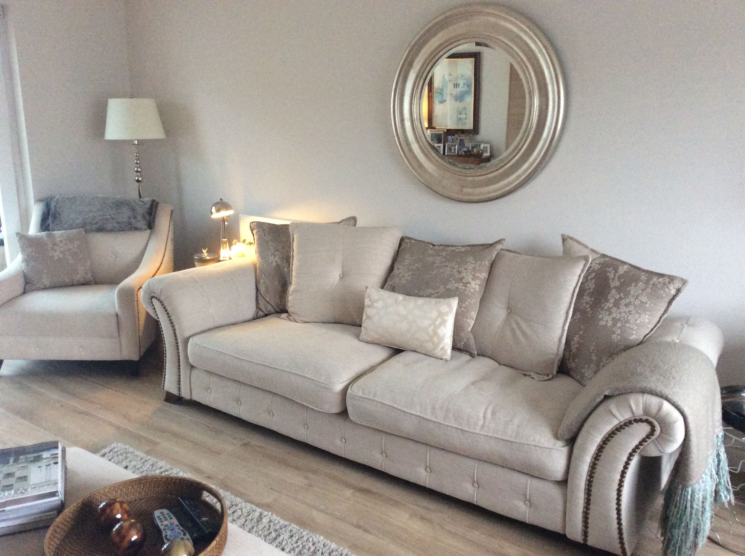 Walls Are Dulux Just Walnut Mirror From Bhs Sofa S From Dfs Throws