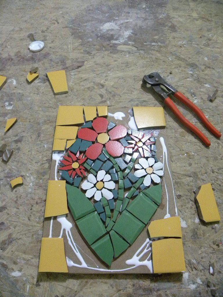 Curso de mosaico com azulejos cer mica e porcelana 1 for Mosaico ceramica