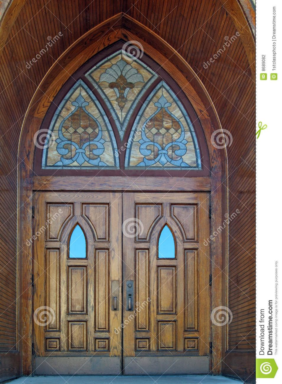 Old Church Doors Clip Art Set