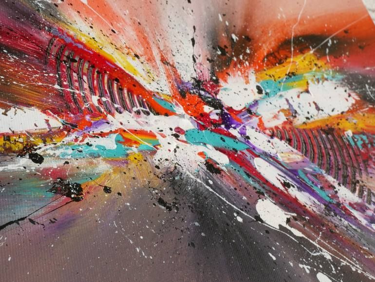 Original Abstract Painting by Oliver Maass | Abstract Art on Canvas | Abstract Color Explosion #009,  #Abstract #abstractarttattoo #art #Canvas #color #Explosion #Maass #Oliver #original #painting