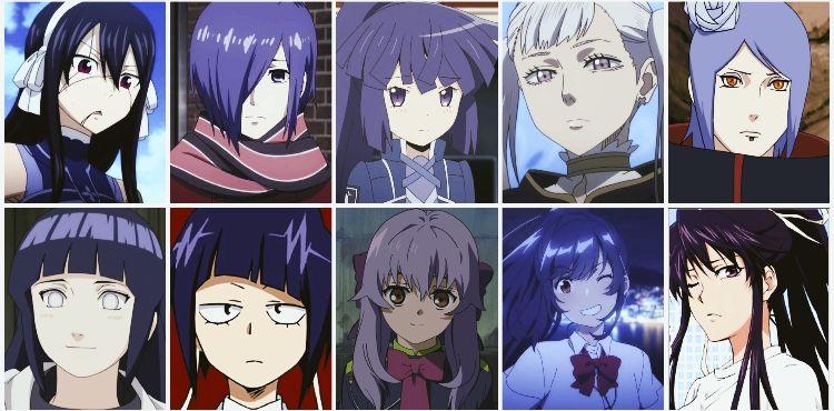 Top Girls With Purple Hair Purple Haired Anime Characters Anime Anime Purple Hair