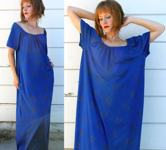 vintage 70s DASHIKI DRESS maxi caftan - only $24.00!