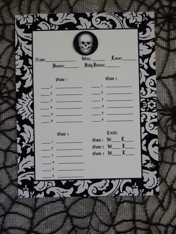 Recipes from Stephanie Halloween Bunco Sheet Bunco t