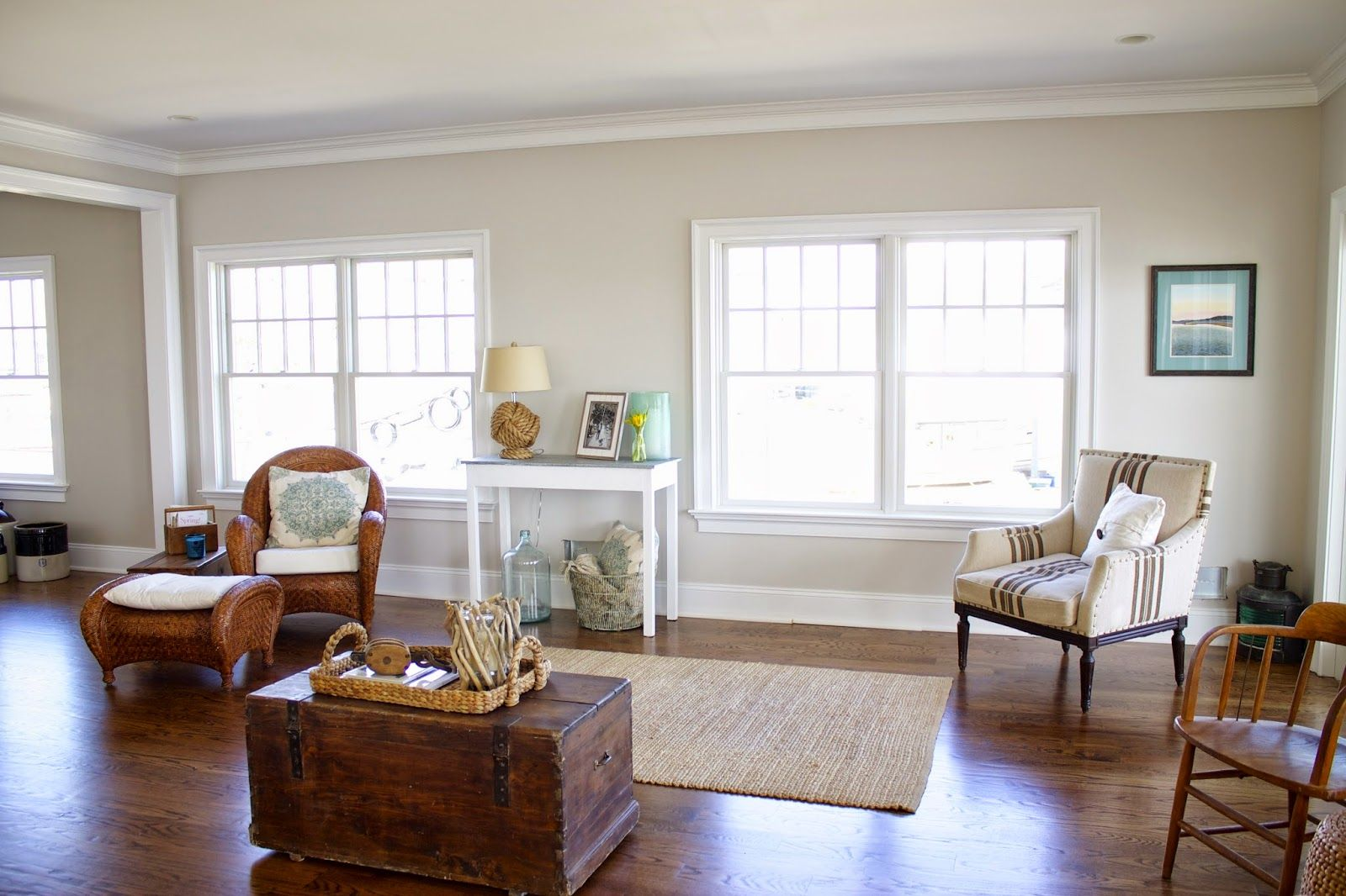 The main floor is painted in Benjamin Moore\'s Pale Oak. Description ...