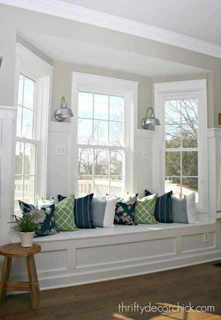 Adding Some Color To The Kitchen Window Seat Kitchen Interior Home