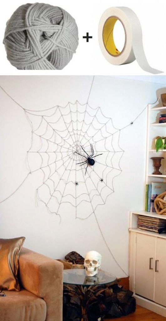 30 Cool Modern Halloween Decorations Ideas Modern halloween and - spider web decoration for halloween