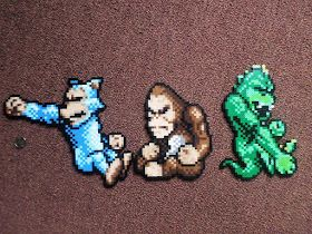 I Did These Perler Beads Of The Game Rampage Here Are Ralph