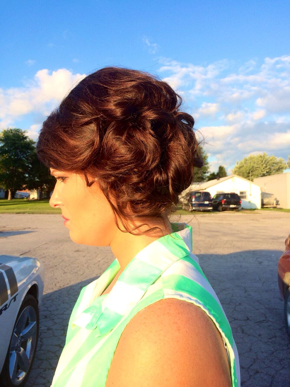 Updo to the side #simple #pretty #elegant