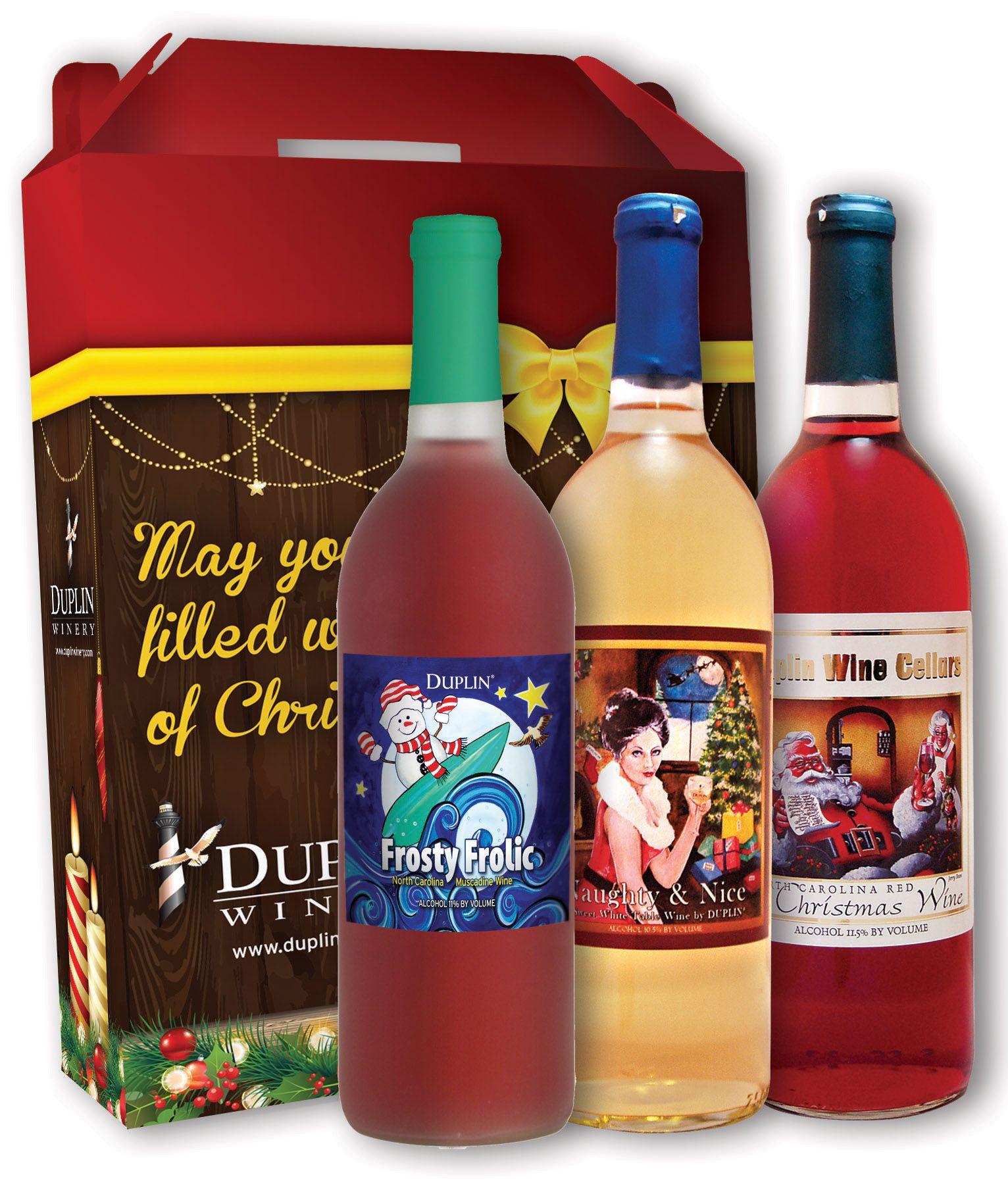 Duplin Winery Christmas Gift Set 2014 Christmas Gift Sets Muscadine Wine Gift Set