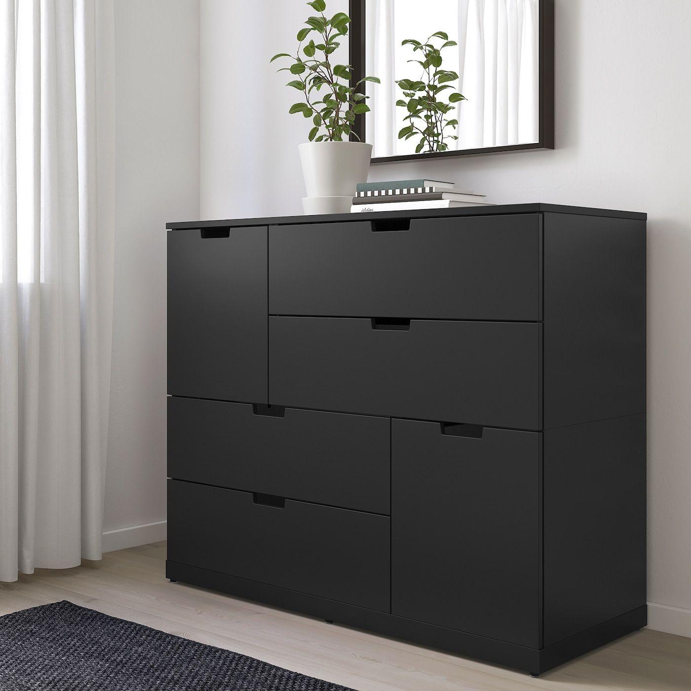Nordli Kommode Mit 6 Schubladen Anthrazit In 2020 Ikea