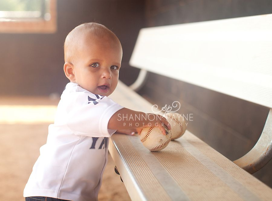 One year old session at the baseball field shannon payne photography nashville tn child photographer