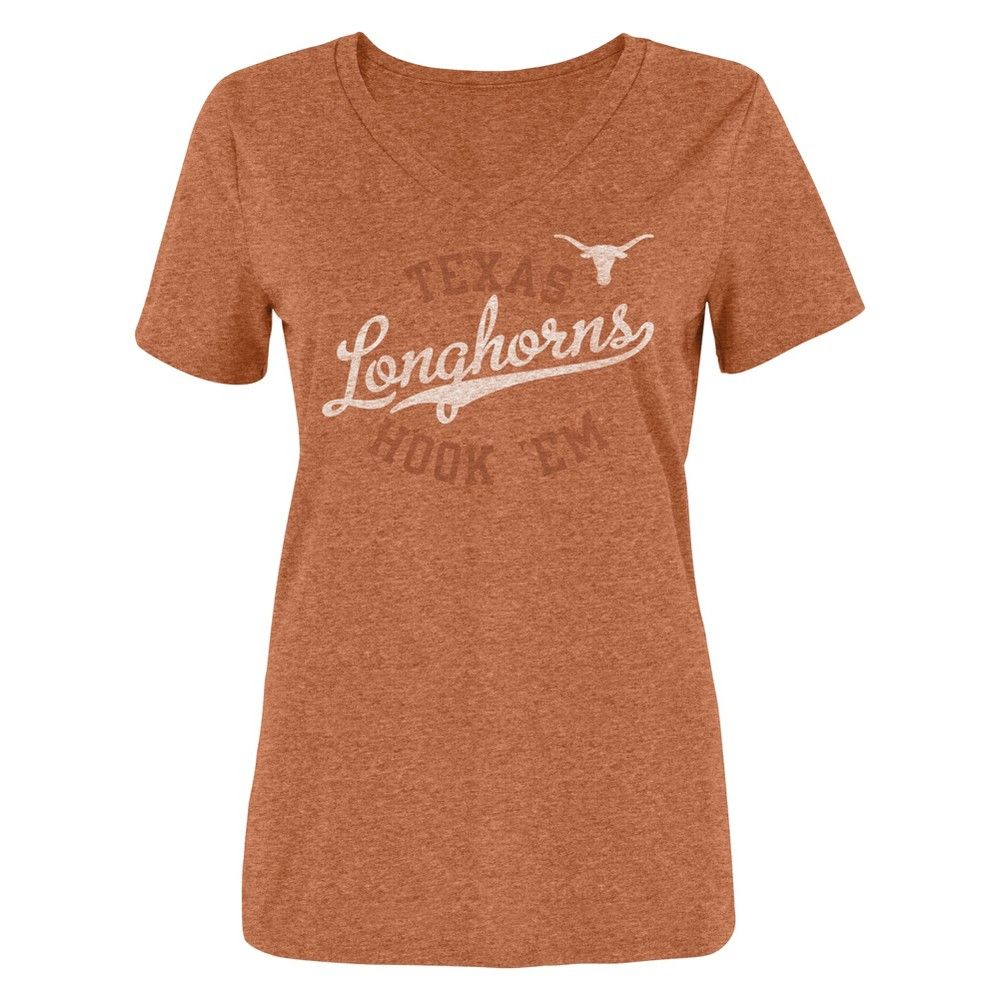 751c63b9905 NCAA Women s Bi-Blend V-Neck T-Shirt Texas Longhorns - XL