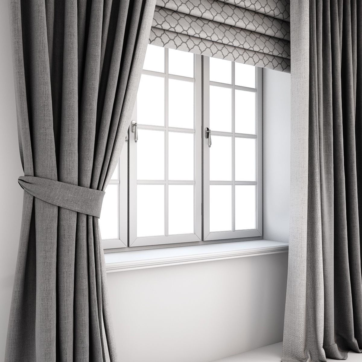 Grey Curtains Straight To The Floor And Catch It A Roman B