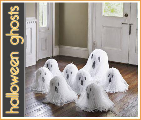 DIY Halloween White Ghosts DIY Halloween, Halloween ghosts and - halloween ghost decor