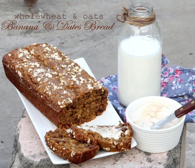 Healthy banana and dates bread whole wheat banana bread banana healthy banana and dates bread whole wheat banana bread banana bread recipe oats forumfinder Images