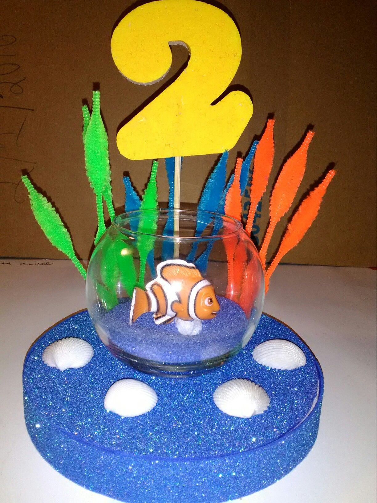 Finding Nemo Centerpiece Toddler birthday party, Nemo