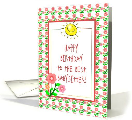 Happy Birthday For Babysitter Flowers Sunshine Card Thank You Customer In Tennessee