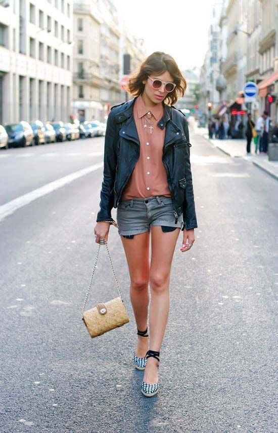 Creative Ideas for Wearing a Leather Jacket  #fashiontips #leatherjacket
